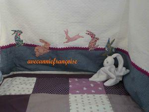 tour de lit appilqués lapins