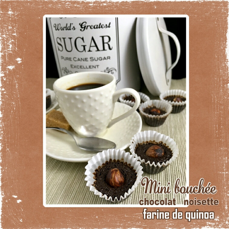 Mini bouchée chocolat lait farine de quinoa