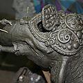 Elephant clay sculpture