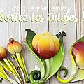 De belles tulipes pour un printemps plein de lumière
