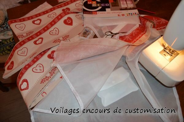 Voilages encours de customisation