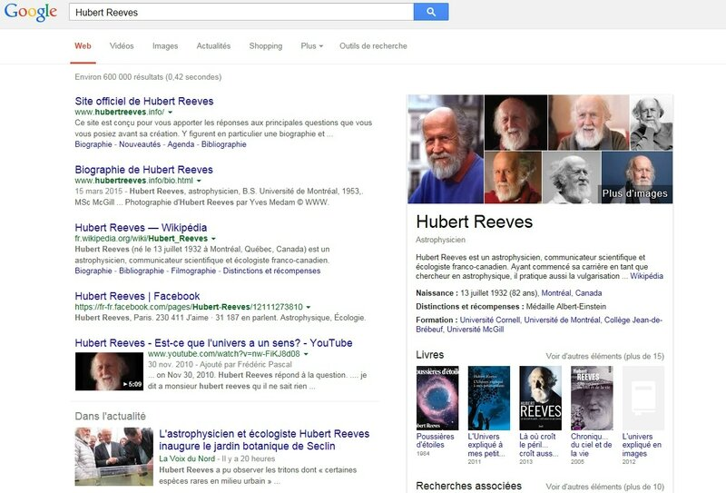 Knowledge graph Hubert Reeves