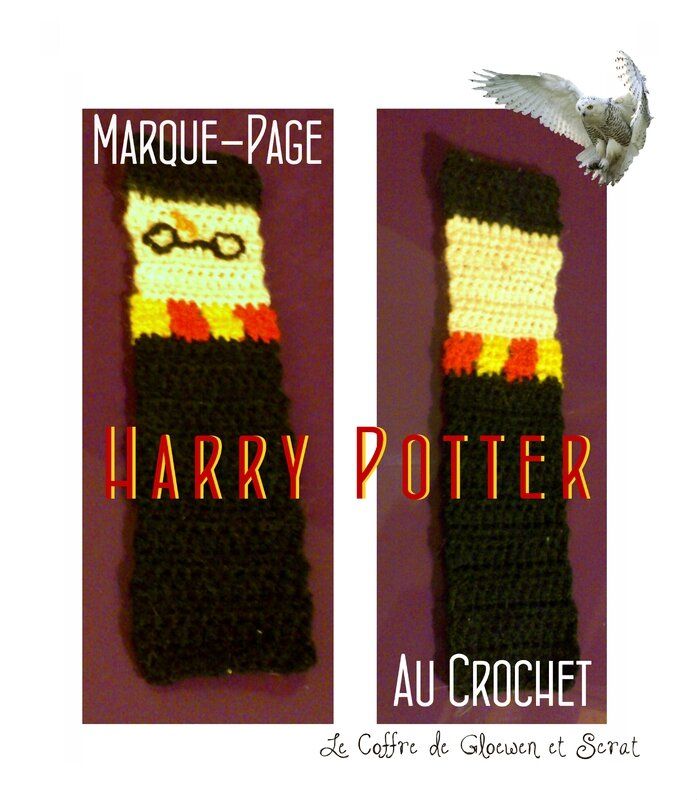 Le marque-page Harry Potter au crochet