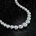 Diamond rivière necklace formerly owned by zsa zsa gabor up for auction at bonhams new york