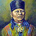 Un grand chef de la tribu osage
