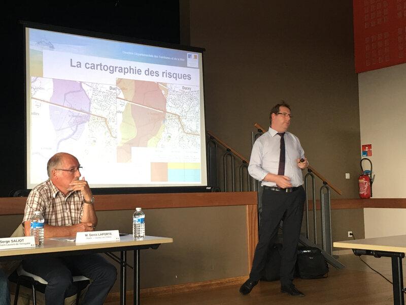 PPRi_Sélune_Erwan Blondel_DDTM_réunion_Saint-Laurent-de-Terregatte_juillet_2018