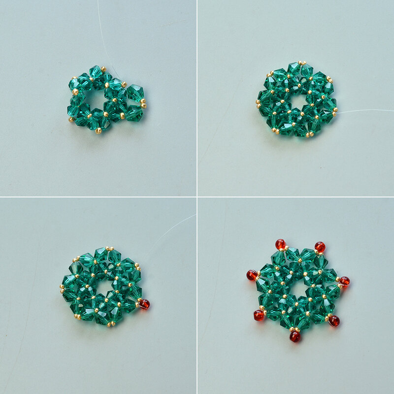 Instructions-on-Making-Glass-Bead-Stitch-Flower-Pendant-Necklace-3