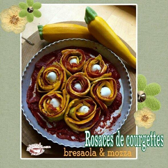 rosaces de courgettes à la bresaola et mozza (SCRAP)