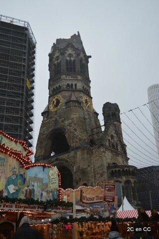 Marché Noël et Eglise du Souvenir - Berlin