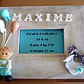 Cadre de naissance pour Maxime