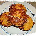 Cakes moelleux potiron mozzarella