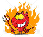 68081_Royalty_Free_RF_Clipart_Illustration_Of_A_Red_Halloween_Devil_With_Fire_And_A_Trident