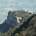Crêtes de la montagne de la coche 895 m – chartreuse - du tunnel de la fosse – apremont 73190