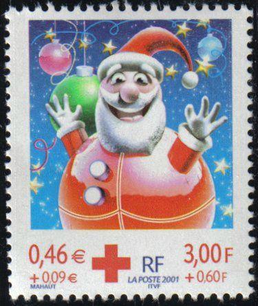Timbre France Père-Noël 2