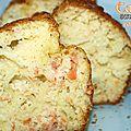 Cake saumon fumé et ravioles de chèvre