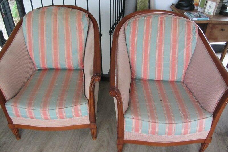fauteuils tonneau à retapisser