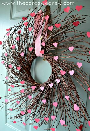 heart willow wreath