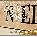 carte NOEL or détail