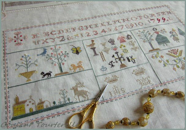 Mother's sampler 1799 Couleur Tourterelle 2-1