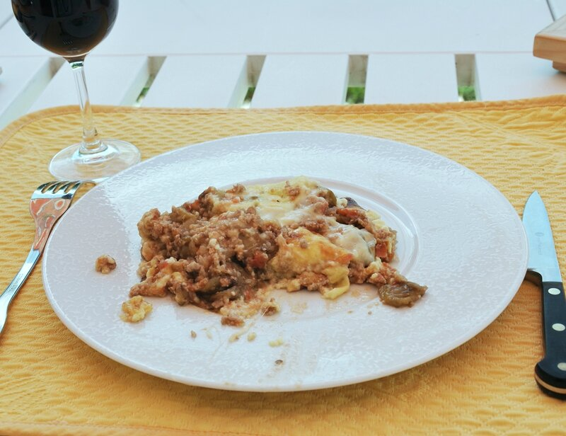 Moussaka assiette