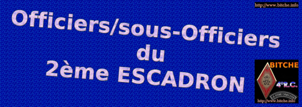 OOFICIERS SOUS-OFFICIERS DU 2ème ESCADRON 002