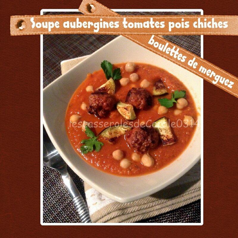 Soupe aubergines tomate boulette merguez(SCRAP)