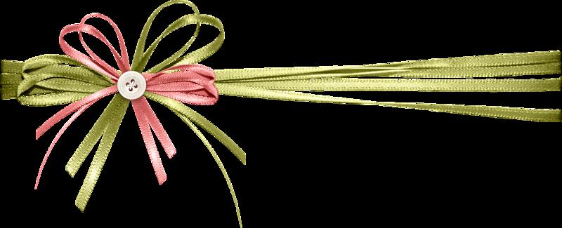 rubans rose et vert