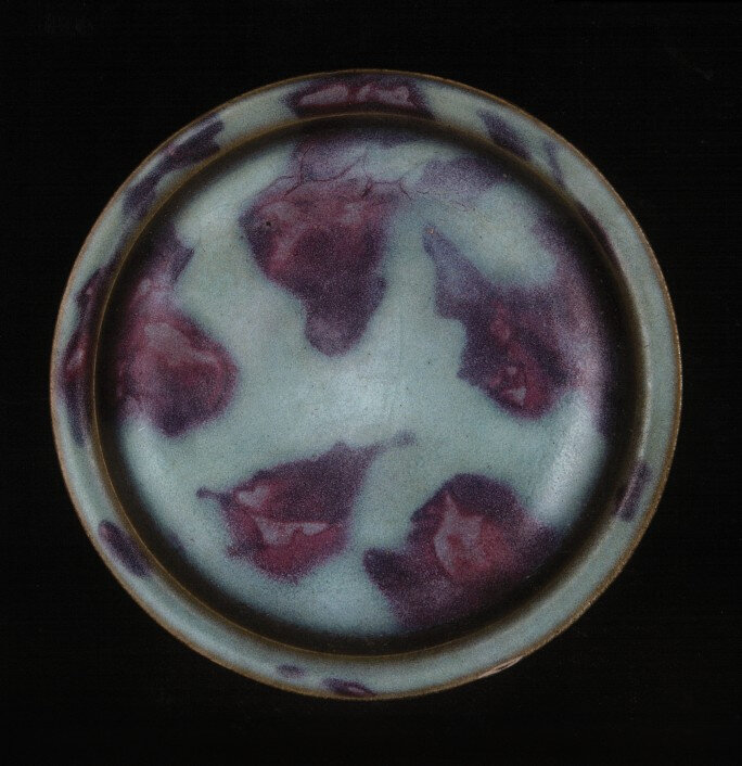 A Junyao purple-splashed dish, Song dynasty (960-1279) © Palace Museum, Beijing