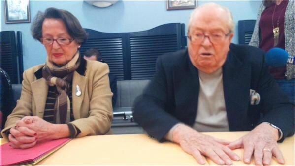 jean marie le Pen et Brigitte Neveux