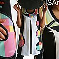 Robe Trapèze graphique Bicolore Noire/blanche Multicolore Pastel