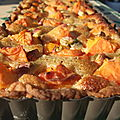 Tarte aux abricots, amande et pistaches