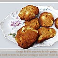 biscuits pommes noisettes
