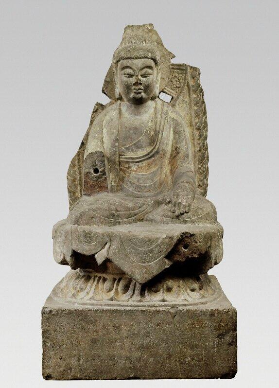 Amitabha Buddha on lotus throne, Tang Dynasty