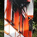 maison orange, impression sur aluminium