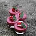 Mousse de fruits rouges à la menthe