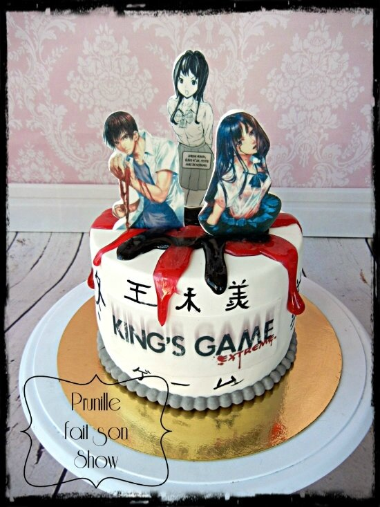 gateau manga kings game prunillefee 3