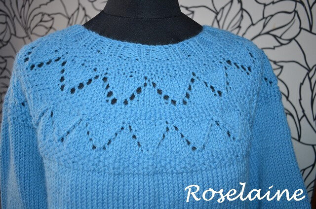 Roselaine Frambuesa Sweater by Drops Design 3