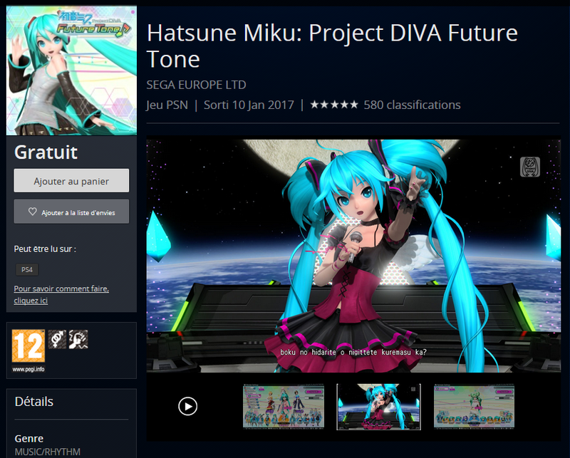 Miku Future Tone PS4