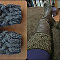 Stockinette Cable Boot Cuff de Debbie Andriulli