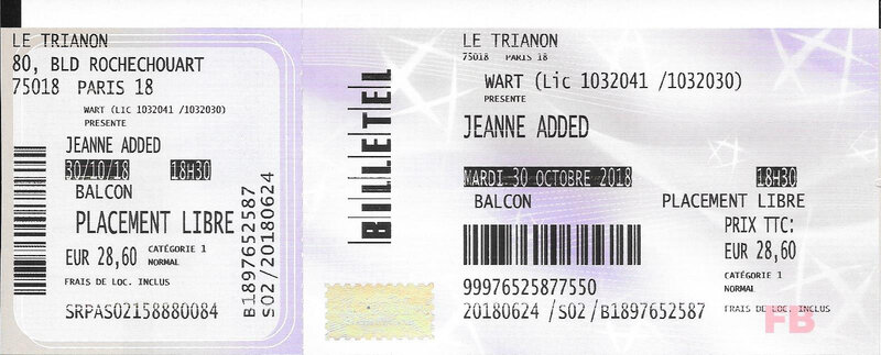 2018 10 30 Jeanne Added Trianon Billet