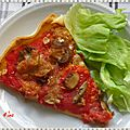 Pizza tomates moutarde moza...