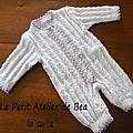 Grenouillère au tricot