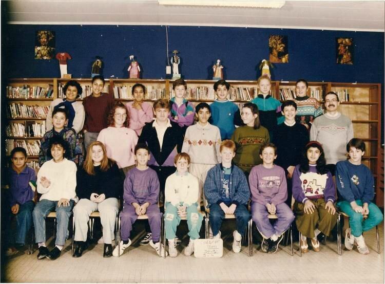 Classe de 5ème 4 - 1991