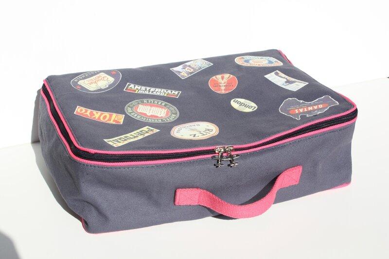 valise en tissu couture
