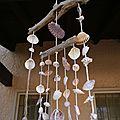 Mobile bois flottés et coquillages