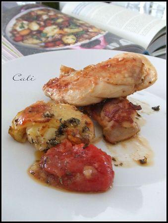 Cuisses de Poulet Croustillantes et Collantes, PDT écrasées & Tomates 004