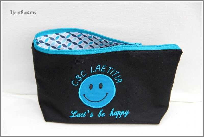 smiley trousse bleu