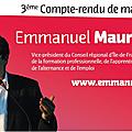 Emmanuel maurel, vice président du conseil régional d'île-de-france - 3ème compte-rendu de mandat : 2013