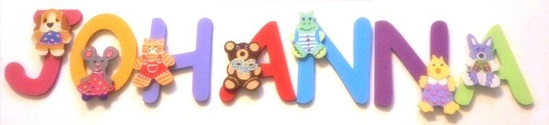 Lettres bois prénom bébé