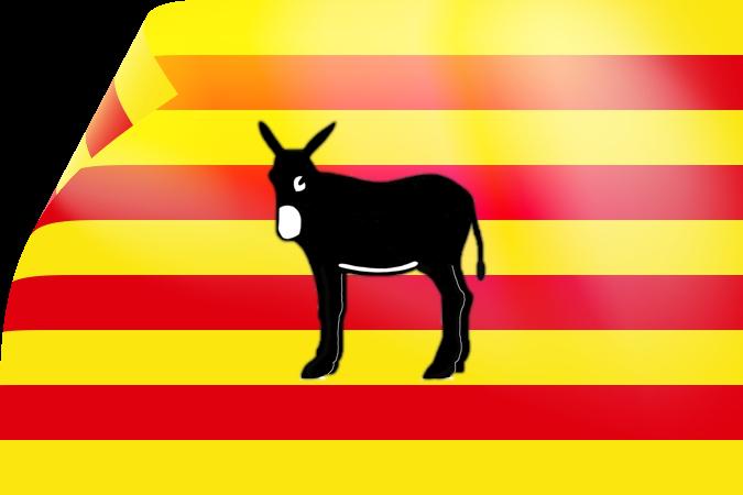 drapeau_catalan_avec_ane